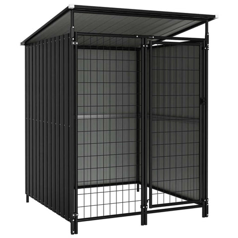 Image of Outdoor Dog Kennel 133 x 133 x 163 cm Anthracite Everyday Pets