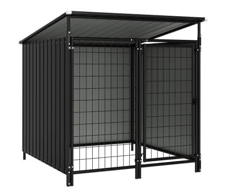 Image of Outdoor Dog Kennel 133x133x113 cm Anthracite Everyday Pets
