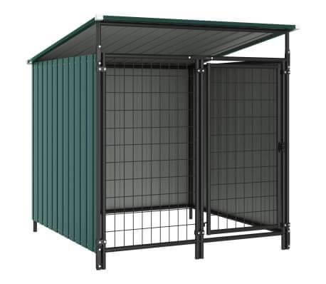 Image of Outdoor Dog Kennel 133x133x113 cm Green Everyday Pets