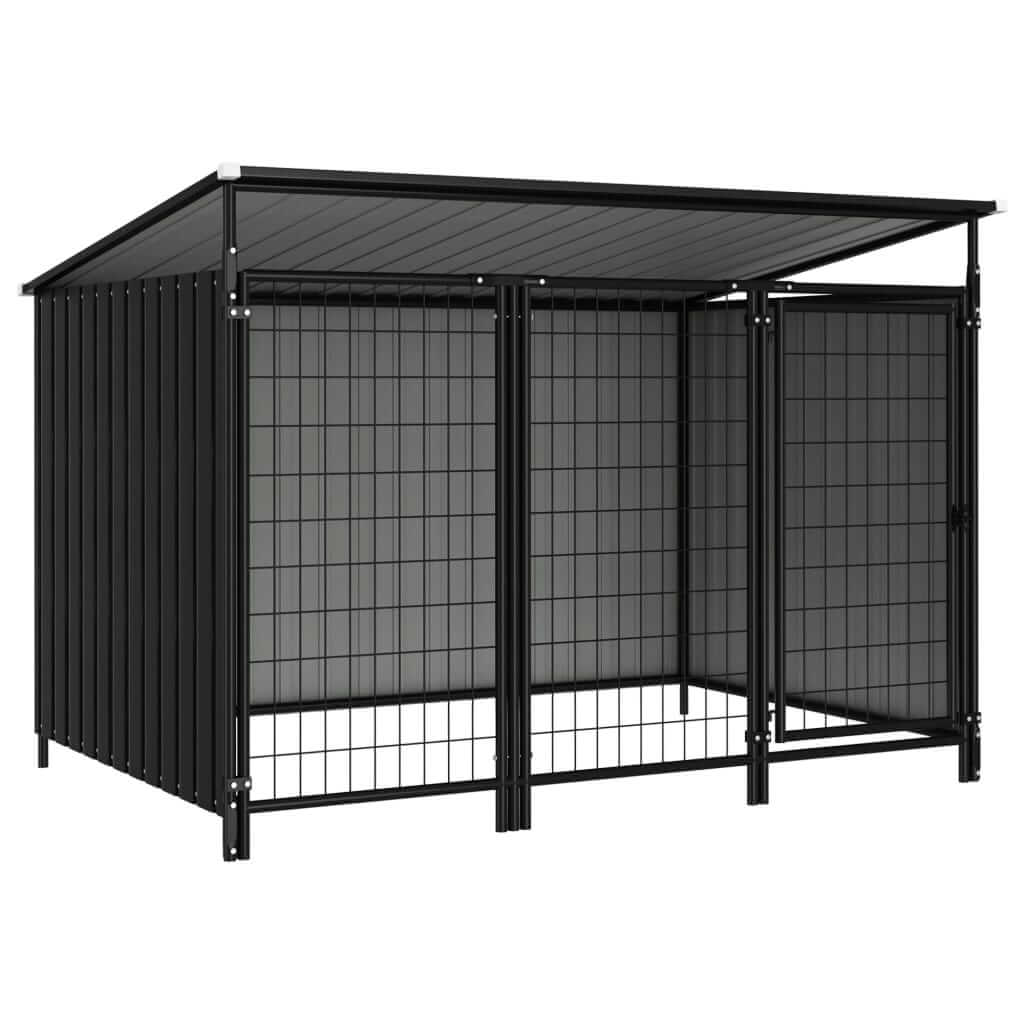 Outdoor Dog Kennel 193 x 133 x 113 cm Anthracite Everyday Pets