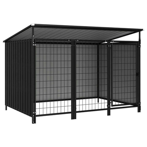 Image of Outdoor Dog Kennel 193 x 133 x 113 cm Anthracite Everyday Pets