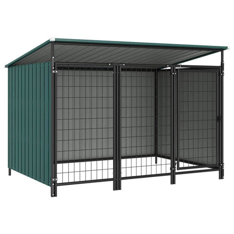 Image of Outdoor Dog Kennel 193 x 133 x 113 cm Green Everyday Pets
