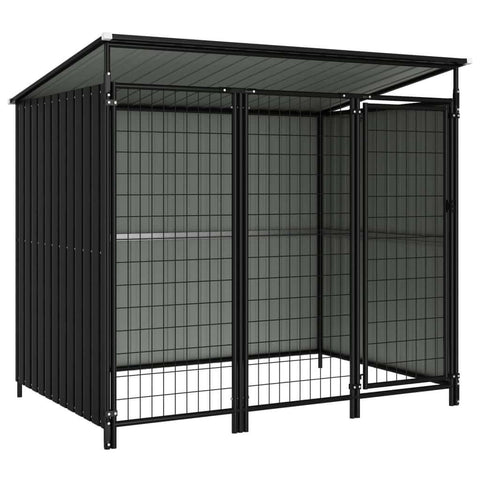 Image of Outdoor Dog Kennel 193 x 133 x 163 cm Anthracite Everyday Pets