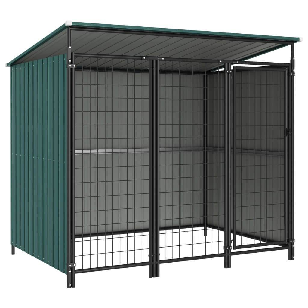 Outdoor Dog Kennel 193 x 133 x 163 cm Green Everyday Pets