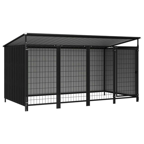 Image of Outdoor Dog Kennel 253 x 133 x 113 cm Anthracite