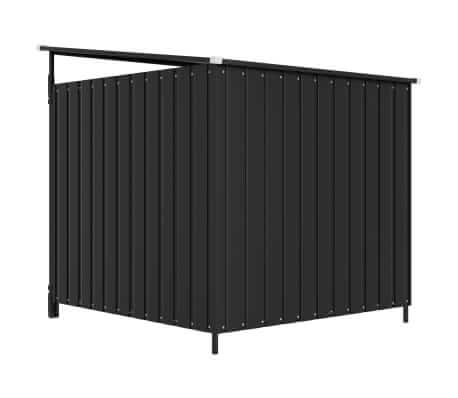 Outdoor Dog Kennel Anthracite Back View Everyday Pets