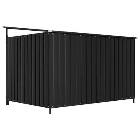 Image of Outdoor Dog Kennel Back View Anthracite Everyday Pets