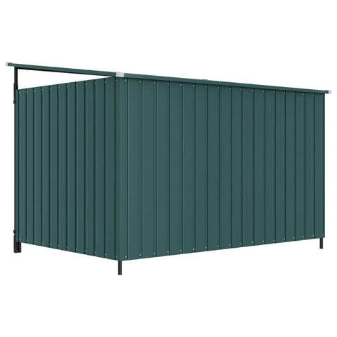 Image of Outdoor Dog Kennel Back View Green Everyday Pets