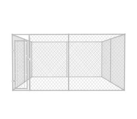 Image of Outdoor Dog Kennel Chain Link Mesh Sidewalls Everyday Pets