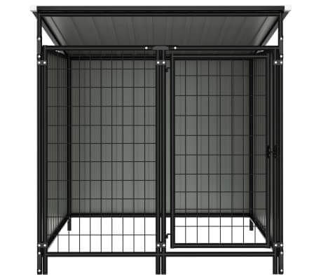 Image of Outdoor Dog Kennel Anthracite Chain Link Mesh Sidewall Everyday Pets