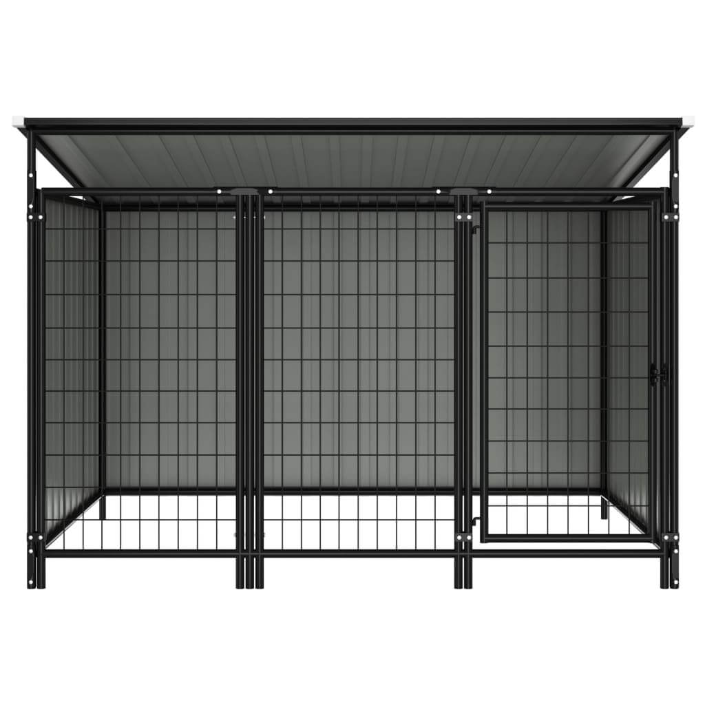 Outdoor Dog Kennel Chain Link Mesh Sidewalls Anthracite Everyday Pets