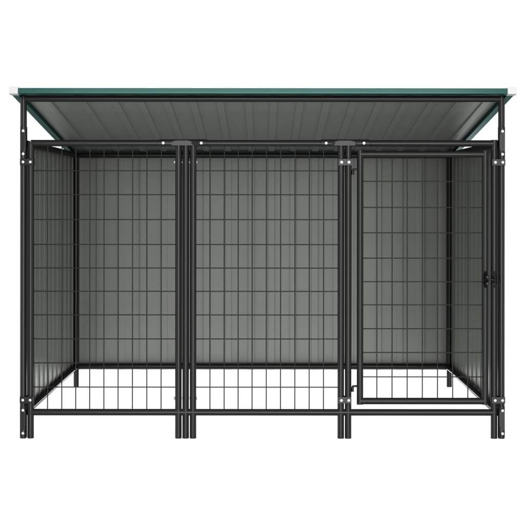 Outdoor Dog Kennel Chain Link Mesh Sidewall Green Everyday Pets