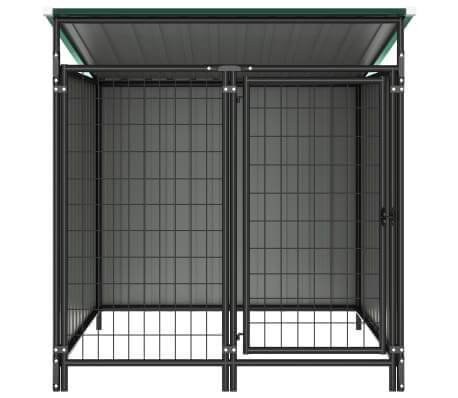Image of Outdoor Dog Kennel Chain Link Mesh Sidewalls Green Everyday Pets