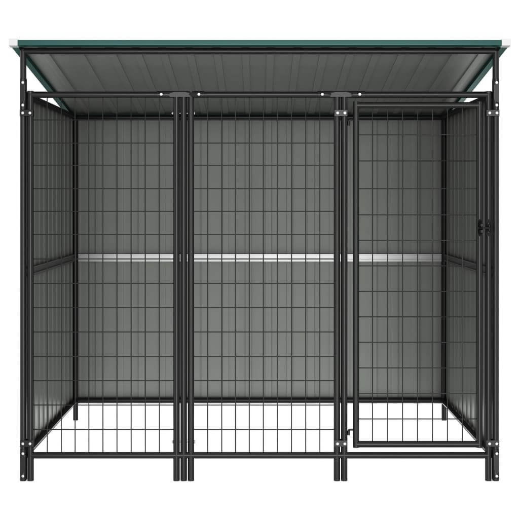 Outdoor Dog Kennel Chain Link Mesh Green Everyday Pets