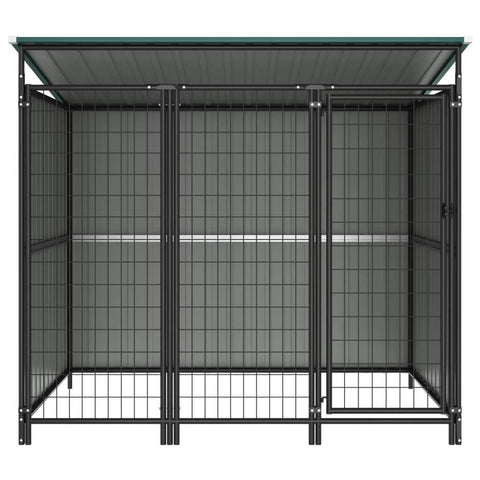 Image of Outdoor Dog Kennel Chain Link Mesh Green Everyday Pets