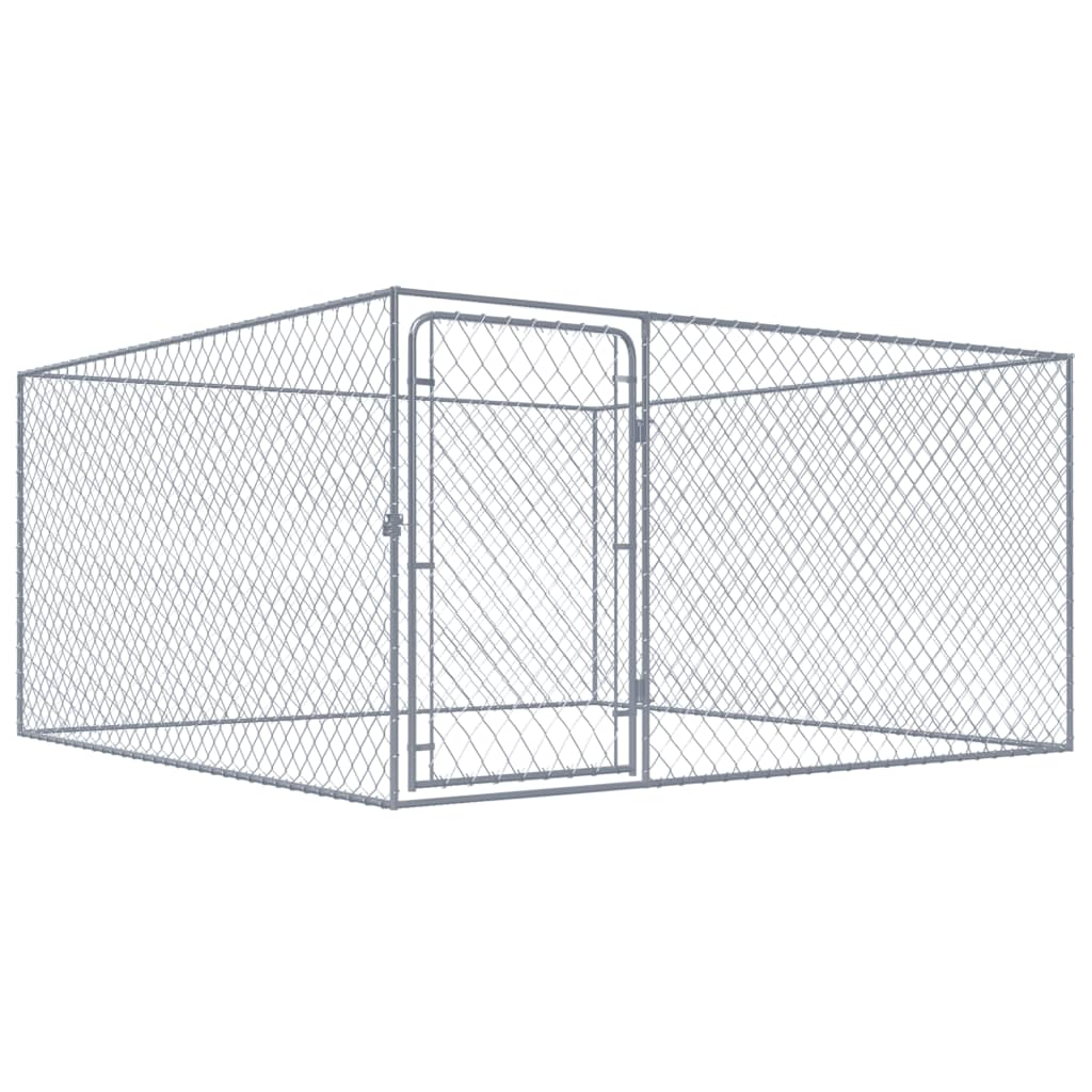 Outdoor Dog Kennel Galvanised Steel 2x2x1 m Everyday Pets