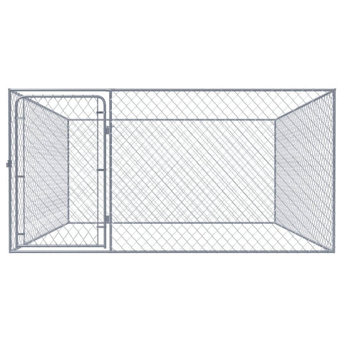 Image of Outdoor Dog Kennel Galvanised Steel 2x2x1 m Everyday Pets