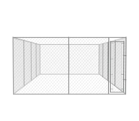 Image of Outdoor Dog Kennel Galvanised Steel Chain Link Mesh Sidewalls Everyday Pets