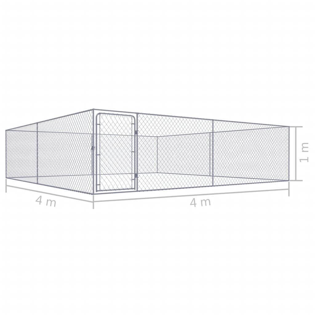Outdoor Dog Kennel Galvanised Steel Measurement and Diameter Everyday Pets
