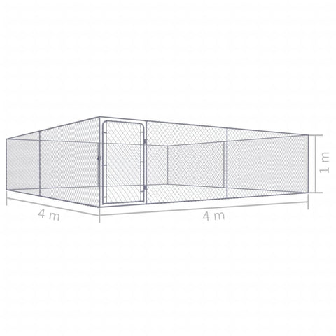 Image of Outdoor Dog Kennel Galvanised Steel Measurement and Diameter Everyday Pets