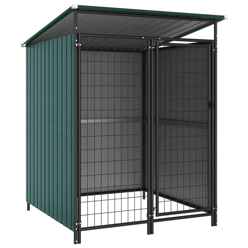Outdoor Dog Kennel 133 x 133 x 163 cm Green Everyday Pets