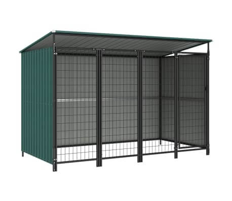 Image of Outdoor Dog Kennel Green 253x133x163 cm Everyday Pets
