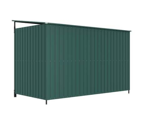Image of Outdoor Dog Kennel Green Back View Everyday Pets