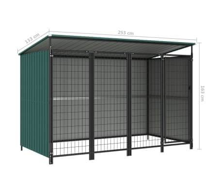 Outdoor Dog Kennel Green Measurement and Diameter Everyday Pets