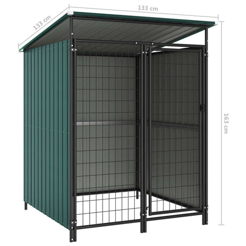 Image of Outdoor Dog Kennel Green Measurement and Diameter Everyday Pets