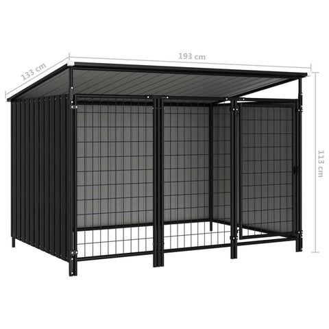 Image of Outdoor Dog Kennel Measurement and Diameter Anthracite Everyday Pets