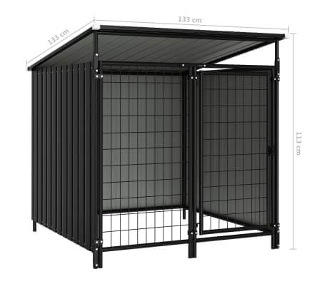 Image of Outdoor Dog Kennel Anthracite Measurement and Diameter Everyday Pets