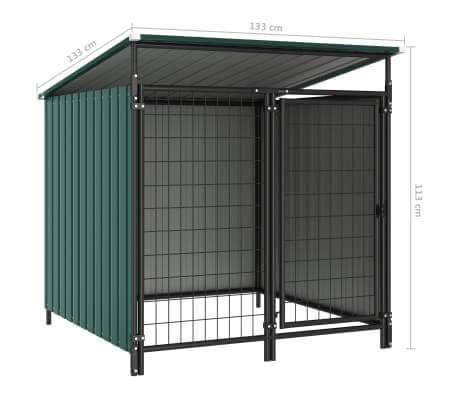Outdoor Dog Kennel Measurement and Diameter Green Everyday Pets