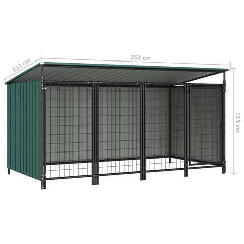 Image of Outdoor Dog Kennel Measurement and Diameter Green Everyday Pets