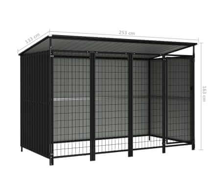 Outdoor Dog Kennel Measurement and Diameter Everyday Pets