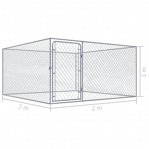 Image of Outdoor Dog Kennel Product Dimension Everyday Pets