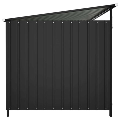 Image of Outdoor Dog Kennel Side View Anthracite Everyday Pets