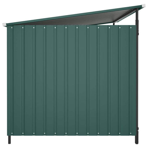 Image of Outdoor Dog Kennel Side View Green Everyday Pets