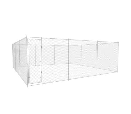 Image of Outdoor Dog Kennel Galvanised Steel 570x570x185 cm Everyday Pets
