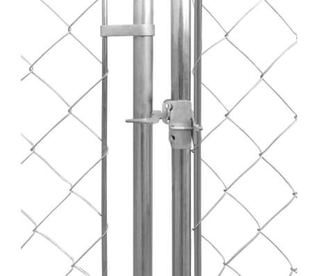 Outdoor Dog Kennel Galvanised Steel Gate with Lock Everyday Pets