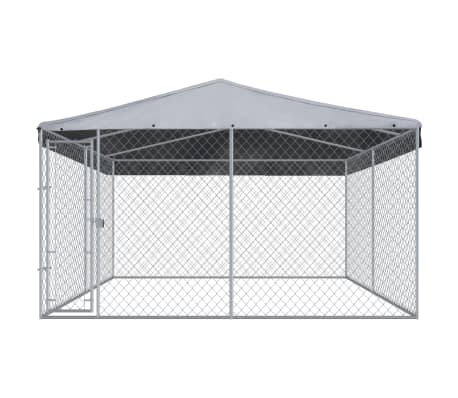Image of Outdoor Dog Kennel with Roof Wire Mesh Everyday Pets