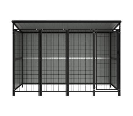 Image of Outdoor Dog Kennel with Steel Bar Walls Everyday Pets