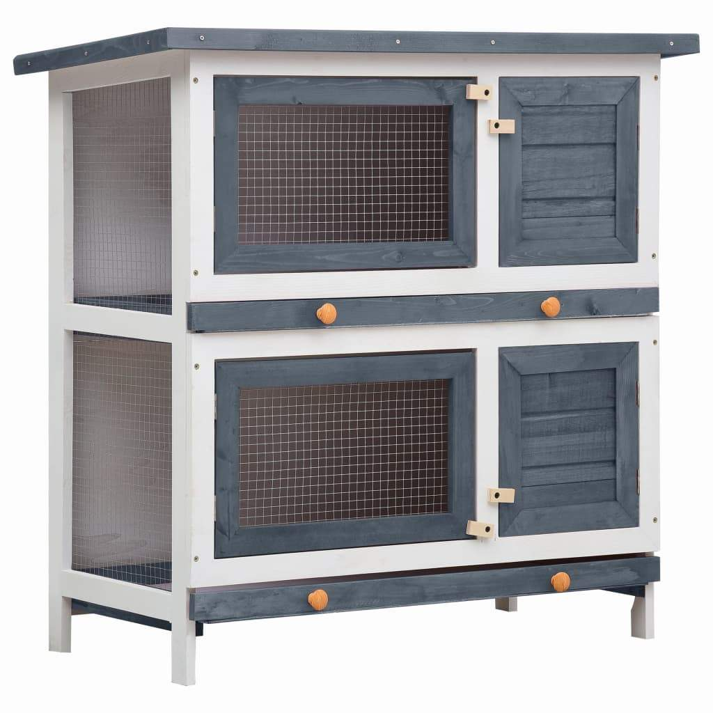 Outdoor Rabbit Hutch 4 Doors