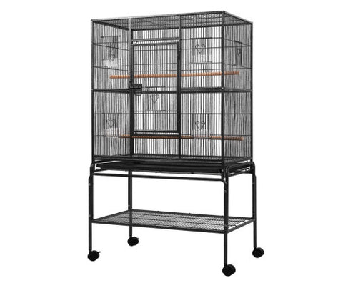 High Quality Bird Cage Non-Toxic Powder Coated Finish Bird Aviary - Black - 93 x 57 x 140cmAfterpay ZipPay Australia Melbourne Sydney Adelaide Gold Coast