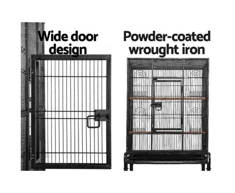 pet-parrot-aviary-bird-cage-w-wheels-stand-160cm-black Afterpay ZipPay Australia Melbourne Sydney Adelaide Gold Coast