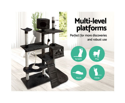 cat-scratching-poles-post-furniture-tree-170cm-grey Afterpay ZipPay Australia Melbourne Sydney Adelaide Gold Coast
