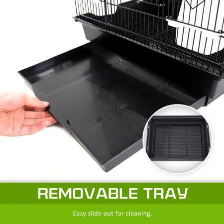 Image of Paw Mate 2in1 Bird Cage VEER with Slide Out Removable Bottom Tray or Easy Cleaning Everyday Pets