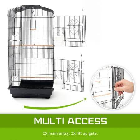 Paw Mate 2 in1 Bird Cage VEER Dual Doors for Multiple Access Everyday Pets