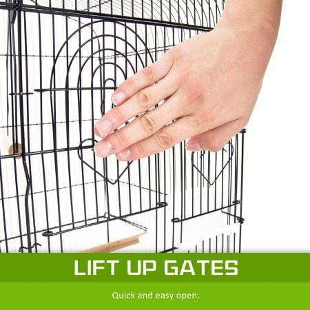 Image of Paw Mate 2 in 1 Bird Cage VEER Lift Up Gates Everyday Pets