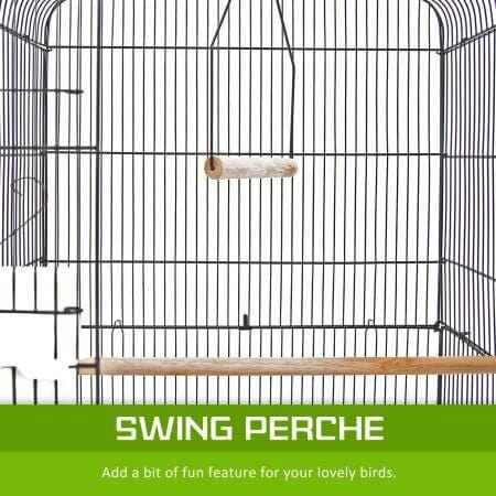 Image of Paw Mate 2 in 1 Bird Cage VEER Swing Perche for Fun Feature for et Bird Everyday Pets