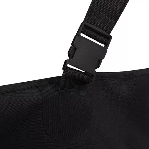 Image of Pet-Rear-Car-Seat-Cover-Barrier-148x142-cm-Black-Adjustable-Strap